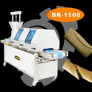 Semi-Automatic Burrito Wrapping Machine - BR-1500. ANKO Semi-Automatic Burrito Wrapping Machine
