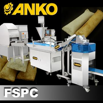 Automatic Single/Double Production Line of Sealed Ends Finger Spring Roll - FSPC. ANKO Automatic Single/Double Production Line of Sealed Ends Finger Spring Roll