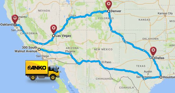 Food Machine Road Trip In The US ANKO FOOD MACHINE CO LTD - Map us foods pheonicx