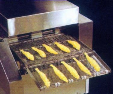 Automatic Batter And Crumb Breading Production Line - Fishes are sent out with powder/crumb coated.
