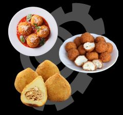 Deep fried food are ready to satisfy people's taste buds. - Frying food in hot oil can seal in the flavor and cook very fast, so deep fried food usually is sold as fast food or snack in chain restaurants in main shopping districts and stalls along the streets.