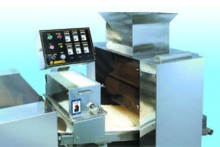 Automatic Layer & Stuffed Paratha Production Line - Rolling dough sheet